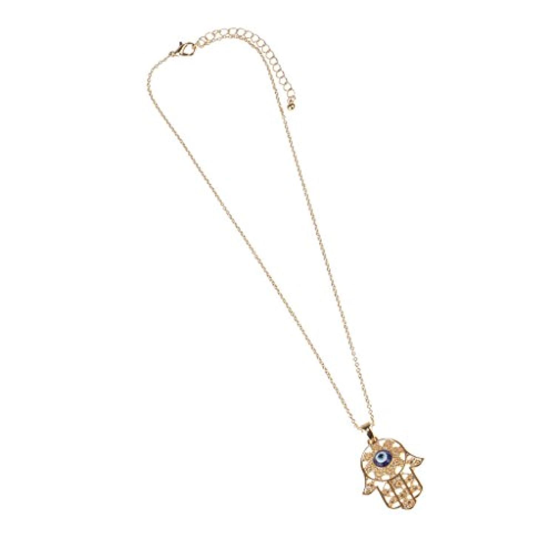 KOZEEYファティマ 邪視 ペンダント ネックレスのチェーン ジュエリー ファッション ゴールド ハムサの手