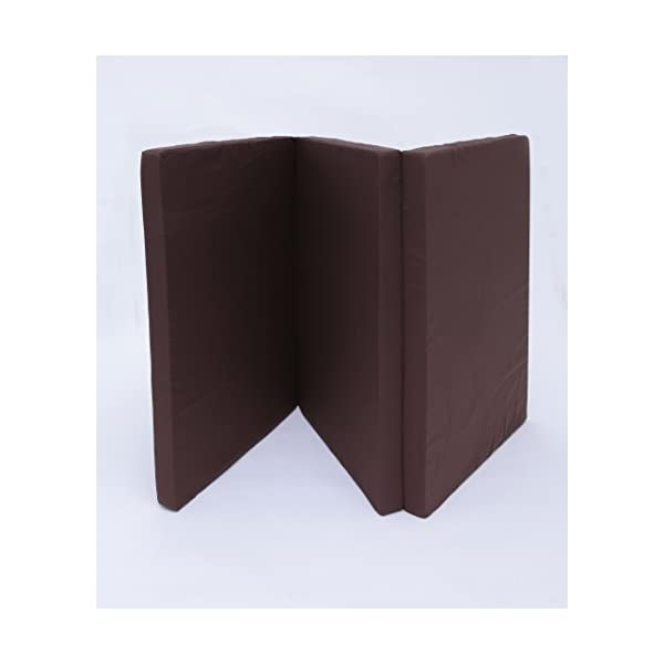 マットレス 三つ折り 厚さ6cm ブラウン シ...の紹介画像7