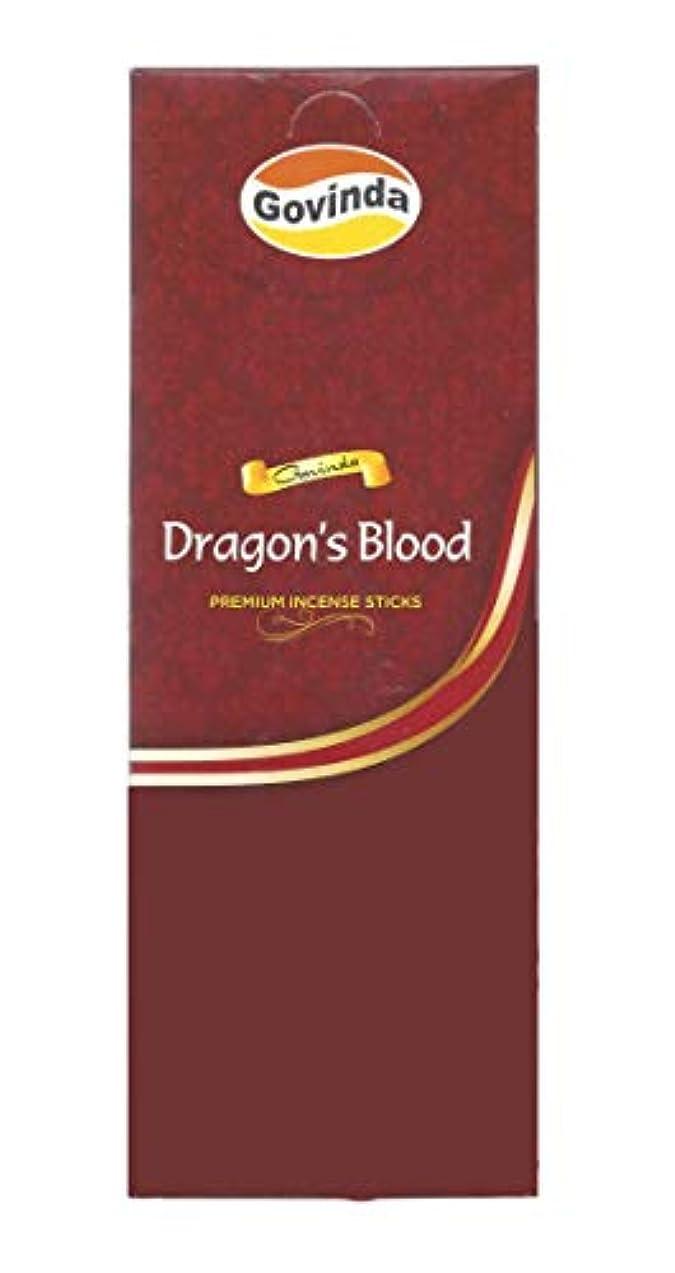 インタビュー該当する消化器Govinda Incense – Dragon 's Blood – 120 Incense Sticks、MasalaコーティングIncense