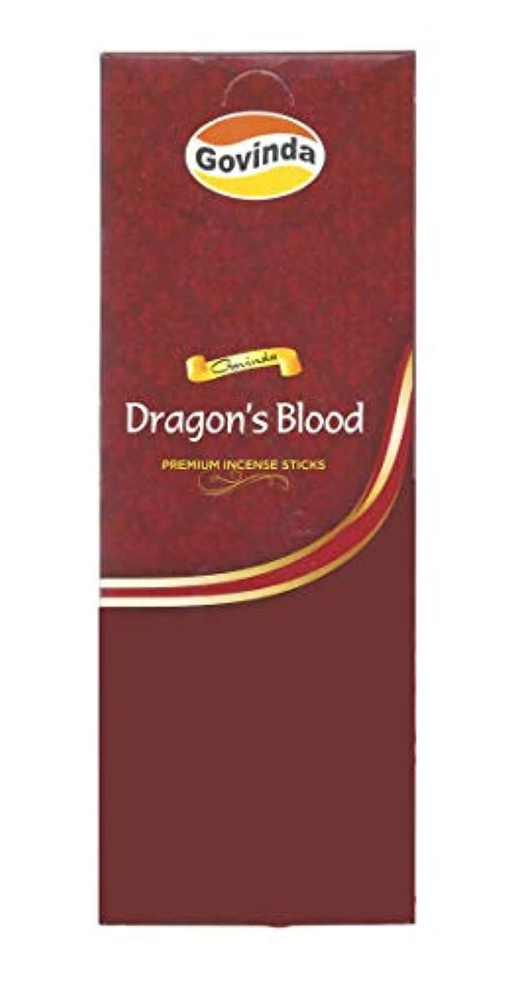 絶望的なマンモスリットルGovinda Incense – Dragon 's Blood – 120 Incense Sticks、MasalaコーティングIncense