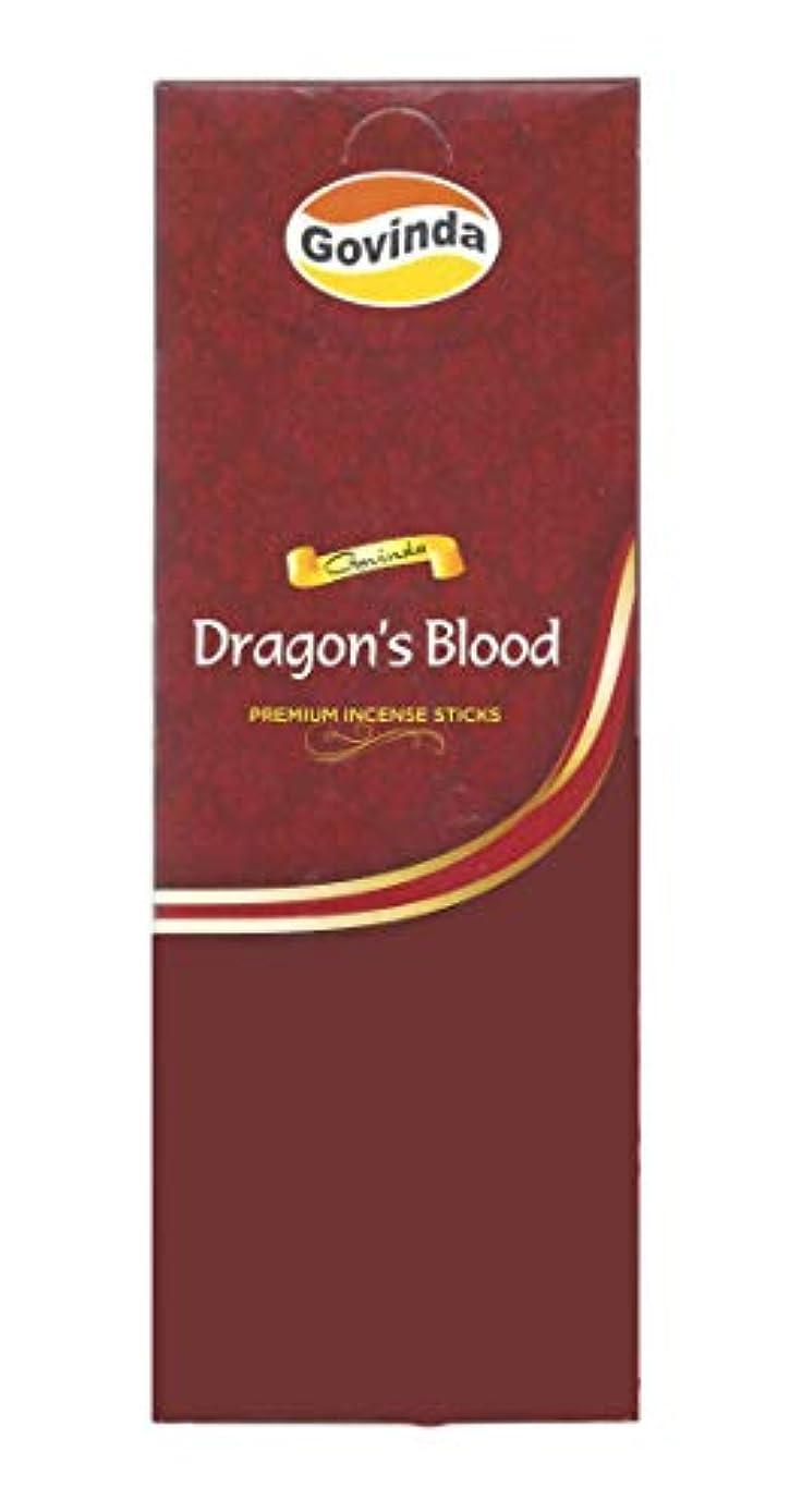関係怪物アクションGovinda Incense – Dragon 's Blood – 120 Incense Sticks、MasalaコーティングIncense
