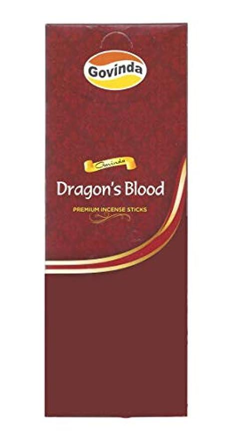 サポートヤギスチュワーデスGovinda Incense – Dragon 's Blood – 120 Incense Sticks、MasalaコーティングIncense