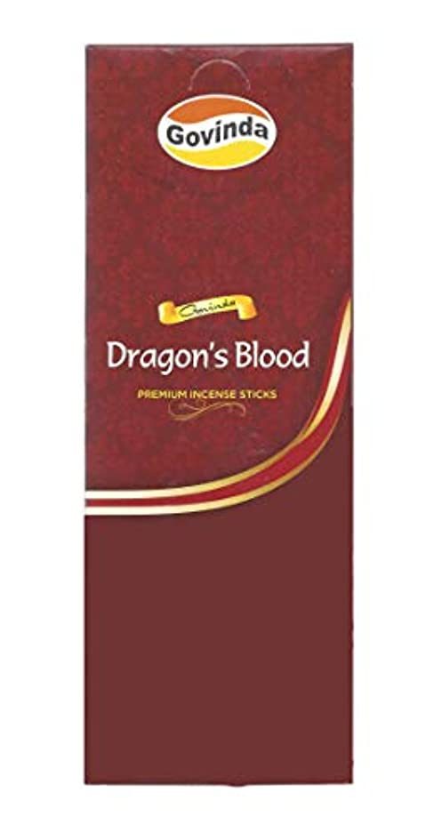 宣言わずかにチョークGovinda Incense – Dragon 's Blood – 120 Incense Sticks、MasalaコーティングIncense