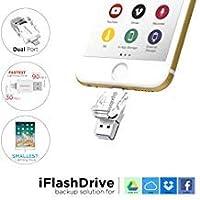 Gigastone 小型iPhone 64GB フラッシュドライブ USB 3.0 高速 軽量 軽量 iOS、OTG、iPad、MFi バックアップ、iPad、iCloud、Mac、PC、iPhone Xs Max、XS、XR