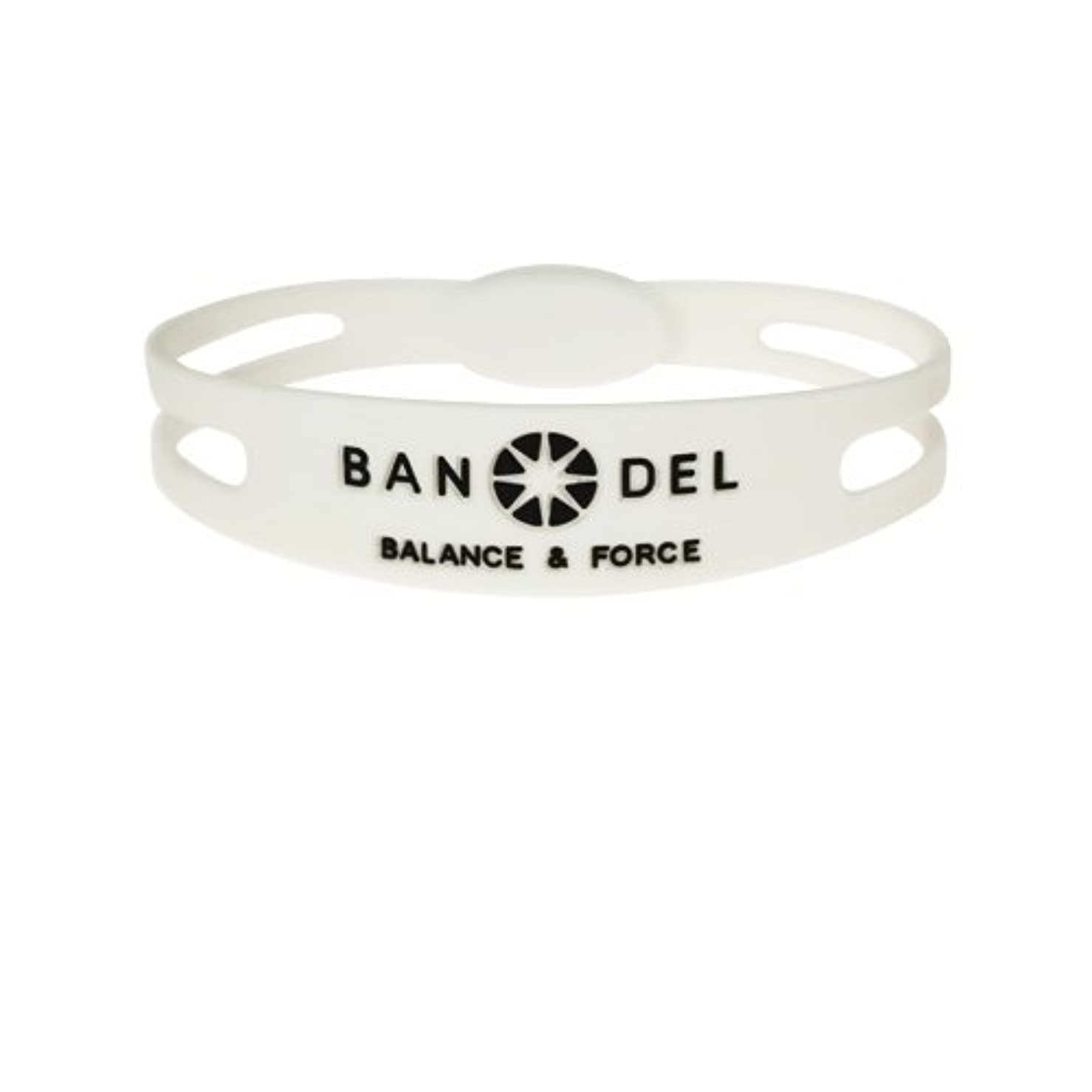 絡まるカレンダー配当バンデル(BANDEL)ブレスレット スリムタイプ[ホワイト×ブラック]Sサイズ(15cm)