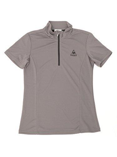 ルコック レディーススポーツウェア Tシャツ ハ-フジップ半袖シャツ QB-717065 CHCレディース CHC
