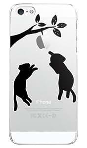 にゃっと ブラック SoftBank au iphone5 アイフォン5 専用ケース カバー iphone5-ami-0071-2