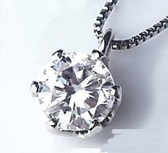 [ラグジュエリー][Lugejewelry]K18一粒ダイヤモンドペンダントネックレス 丸いフォルムの愛らしい0.18ct~0.20ct【ラッピング対応】
