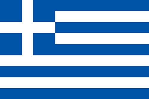 ギリシャ[ 卓上旗  国旗 16×24cm 高級テトロン製]