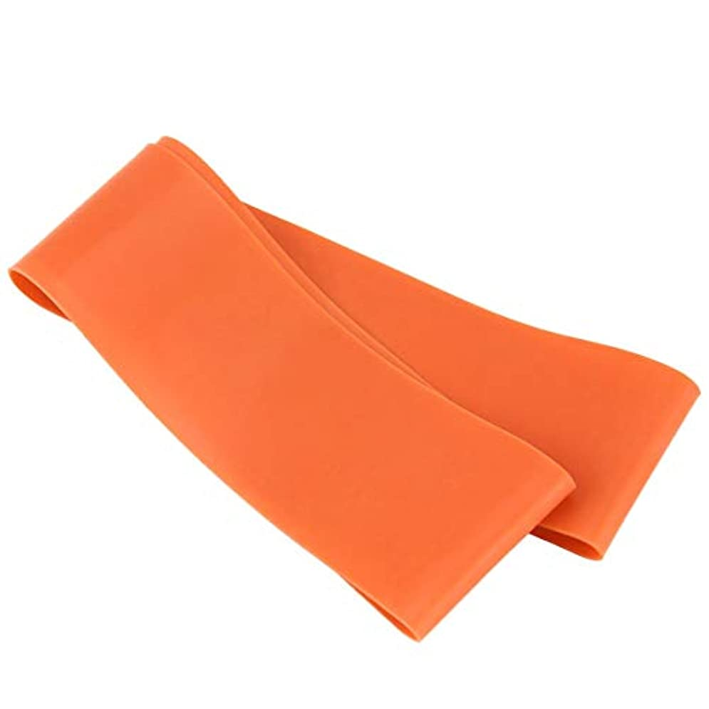 支払いためらう感じる滑り止めの伸縮性のあるゴム製伸縮性がある伸縮性があるヨガベルトバンド引きロープの張力抵抗バンドループ強度のためのフィットネスヨガツール - オレンジ