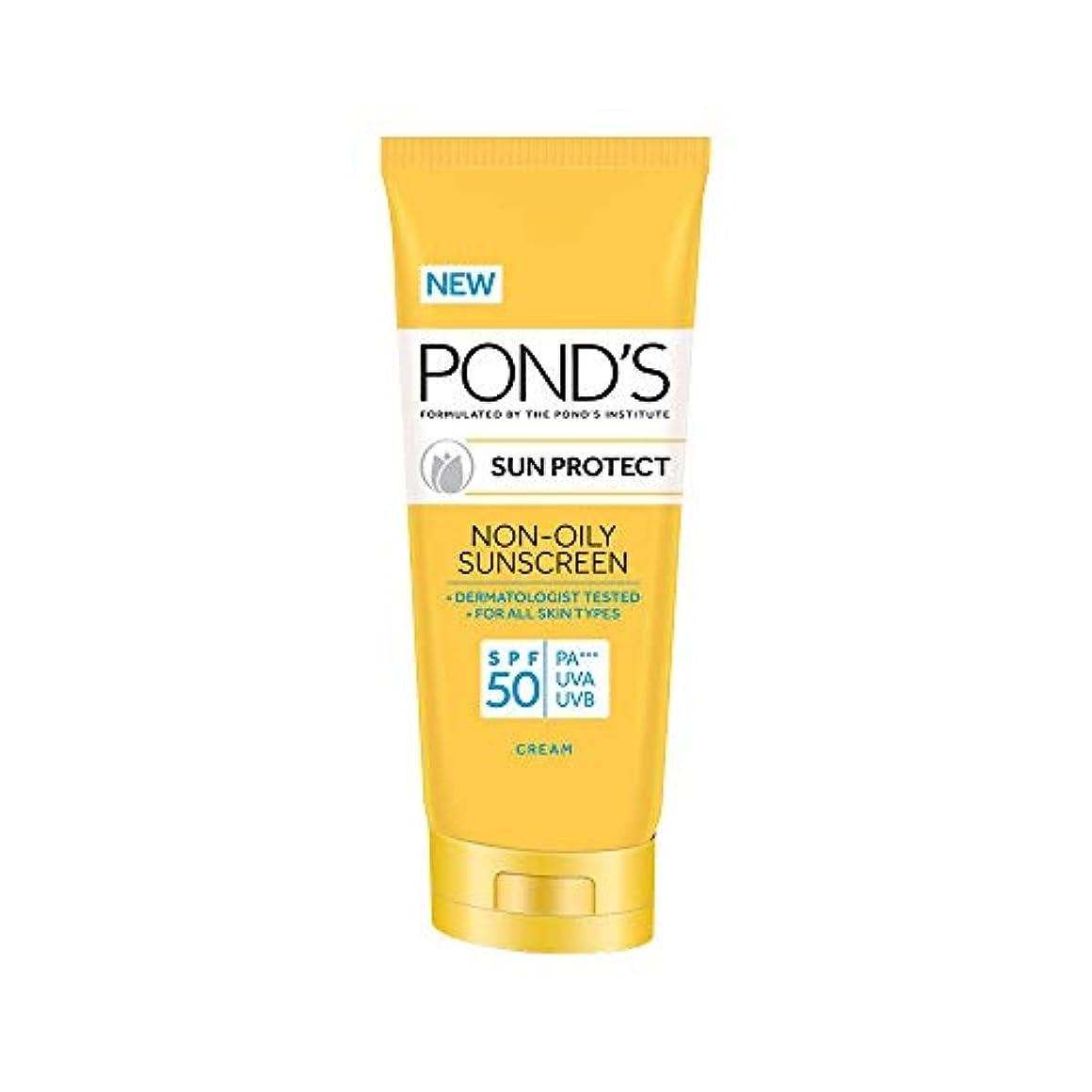 倍増雇用火薬POND'S SPF 50 Sun Protect Non-Oily Sunscreen, 80 g