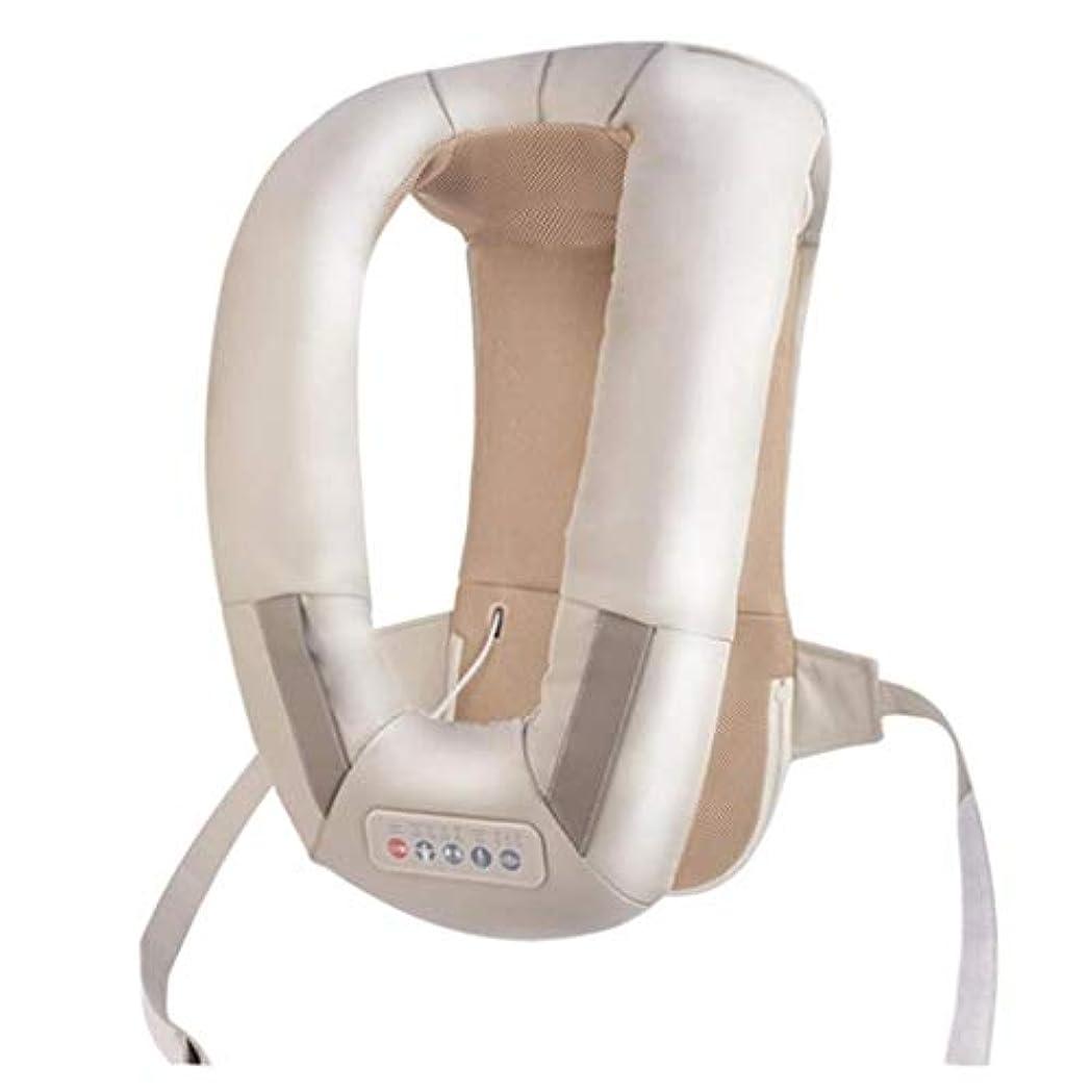 料理パトロン文法首の背中のマッサージ、肩/首の加熱/温かいマッサージ機器、血液循環を促進し、筋肉の圧力を緩和し、痛みを和らげ、オフィス/ホーム