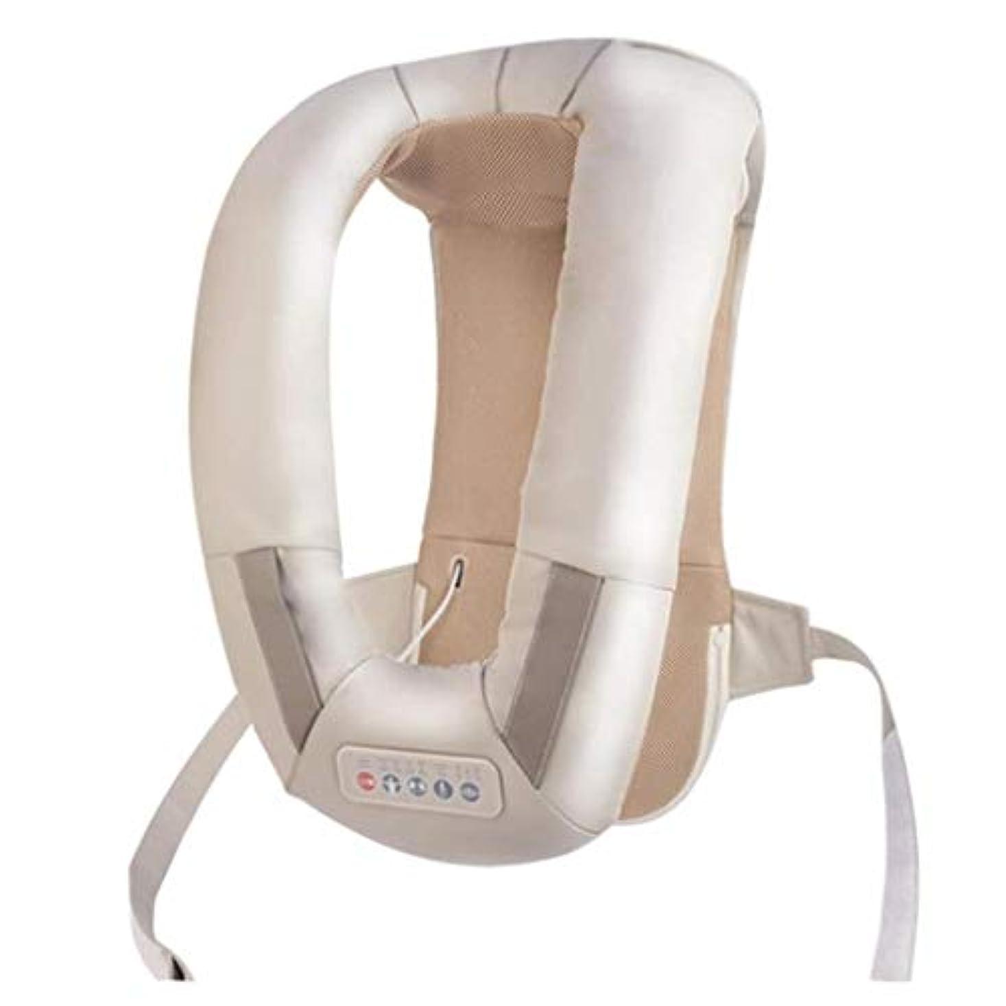 休戦溶岩コレクション首の背中のマッサージ、肩/首の加熱/温かいマッサージ機器、血液循環を促進し、筋肉の圧力を緩和し、痛みを和らげ、オフィス/ホーム