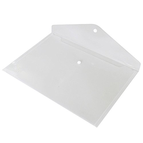koogel透明フォルダa4サイズフォルダwithスナップボタン、ポリ封筒ドキュメントポケットフォルダ、12パック