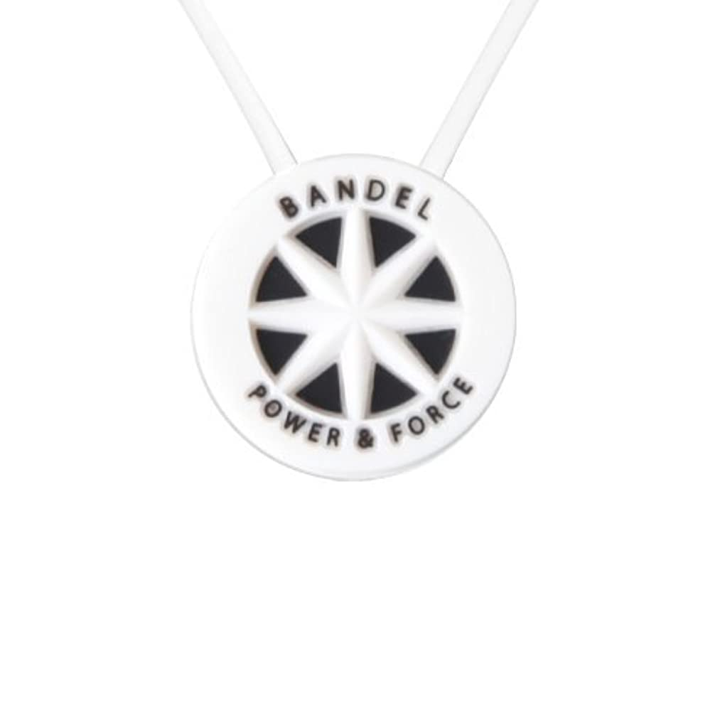 急勾配の雇った信条バンデル(BANDEL) スタンダード シリコン ネックレス (ホワイト×ブラック)45cm