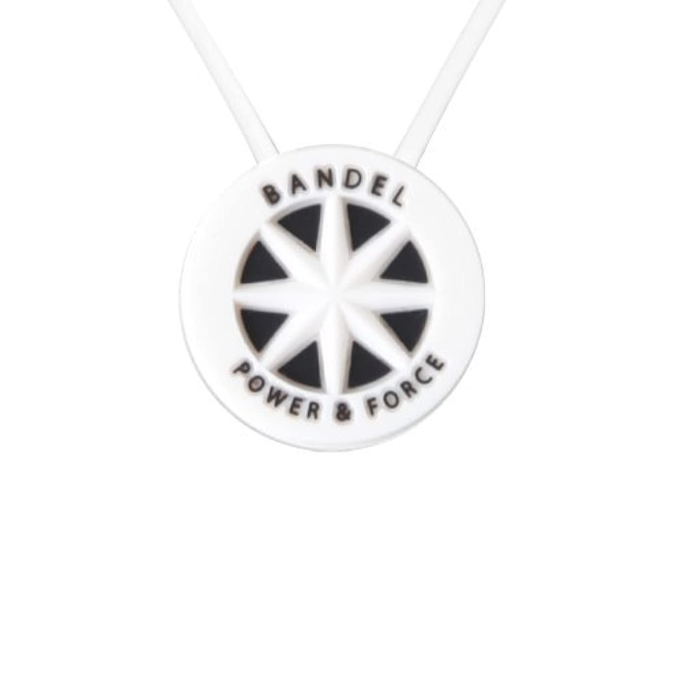 影響突き出すネストバンデル(BANDEL) スタンダード シリコン ネックレス (ホワイト×ブラック)45cm