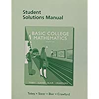 Student Solutions Manual for Basic College Mathematics【洋書】 [並行輸入品]
