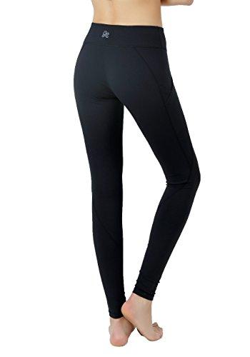 【VIGORPACE】 ブラック トレーニング レディース ロングパンツ ファッション 伸縮性 透けない素材 メッシュ スポーツ ジム ヨガウェア フィットネスウェア パンツ(S)