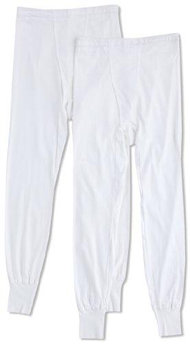 (グンゼ)GUNZE 長ズボン下 やわらか肌着 綿100% 抗菌防臭加工 前あき 2枚組 SV61022 03 ホワイト LL
