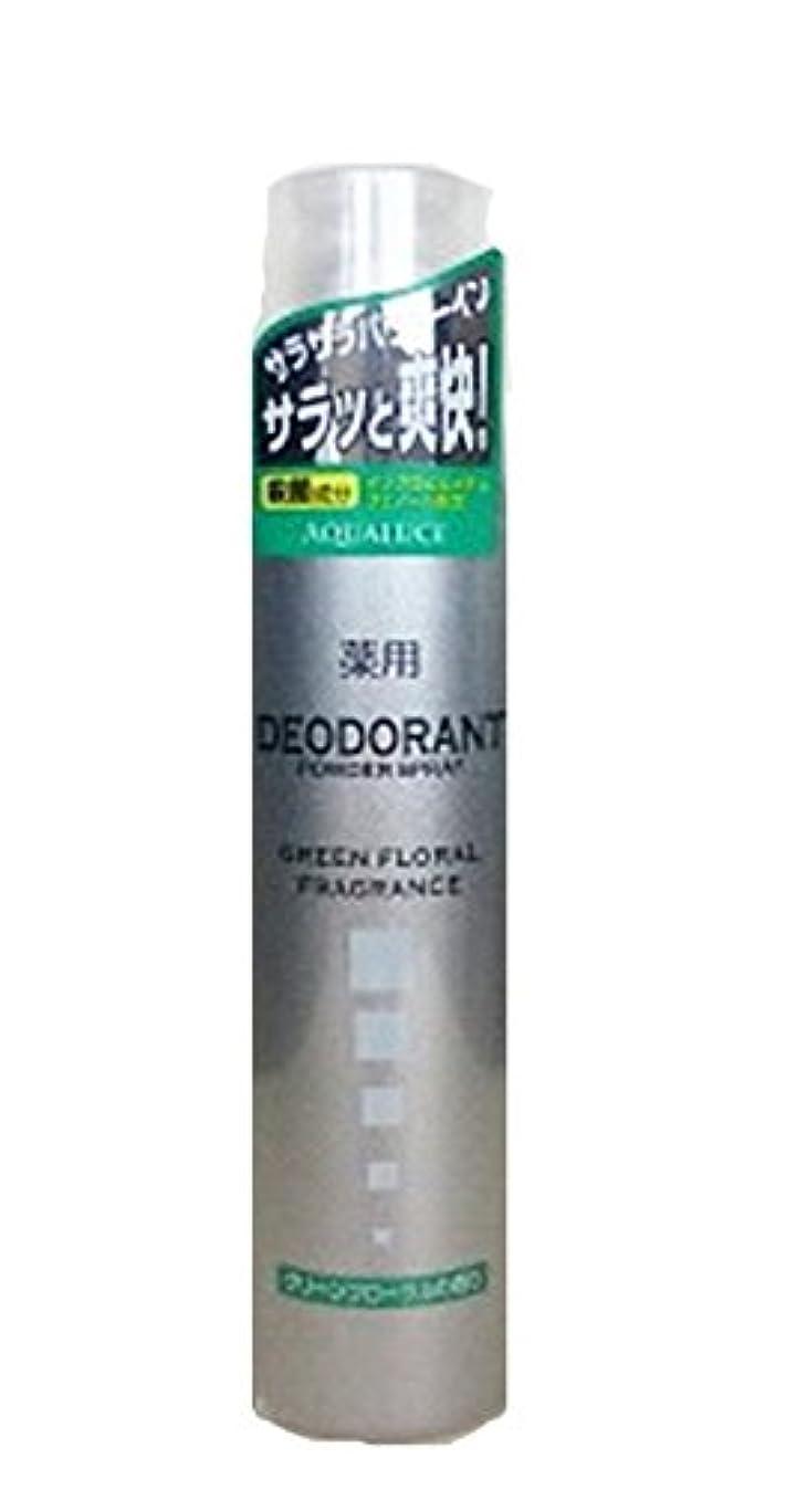 不健康蓮数学アクアルーチェ 薬用デオドラントスプレー グリーンフローラルの香り 205g