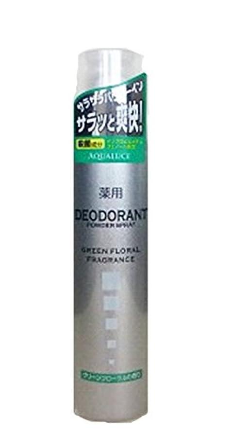 暗唱する進捗ストレスの多いアクアルーチェ 薬用デオドラントスプレー グリーンフローラルの香り 205g