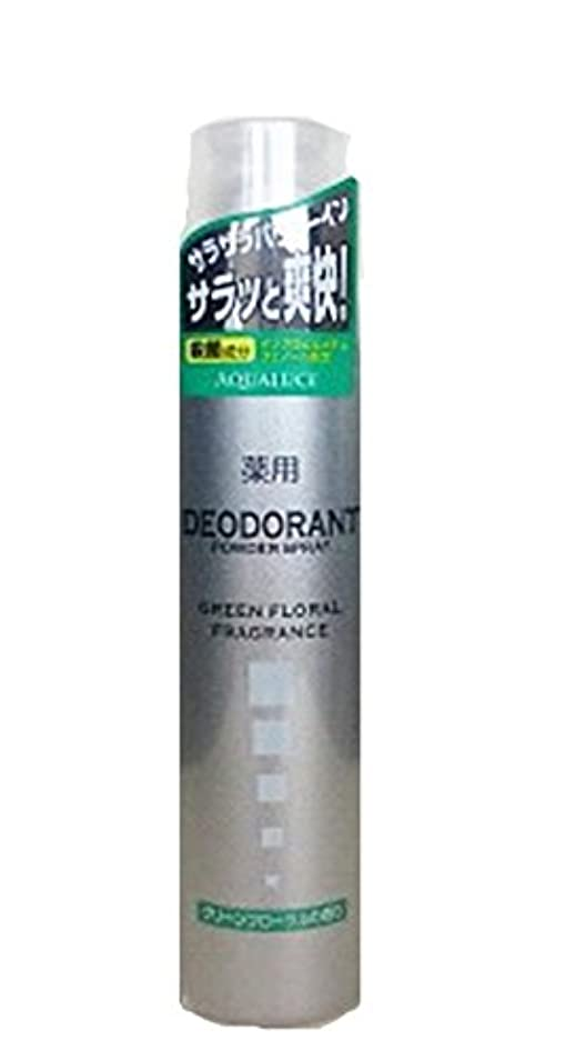 低い間に合わせ石化するアクアルーチェ 薬用デオドラントスプレー グリーンフローラルの香り 205g
