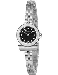 3ff98854a1 [サルヴァトーレフェラガモ]Salvatore Ferragamo 腕時計 ガンチーニブレスレットダイヤ ブラック文字盤 SFBF00218 レディース  【