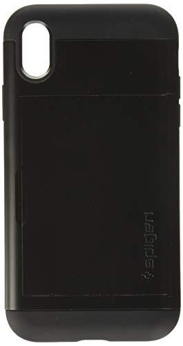 【Spigen】 iPhone XR ケース 6.1インチ 対応 ICカード収納 耐衝撃 MIL規格取得 Qi充電 ワイヤレス充電 スリム・アーマー CS 064CS24882 (ブラック)