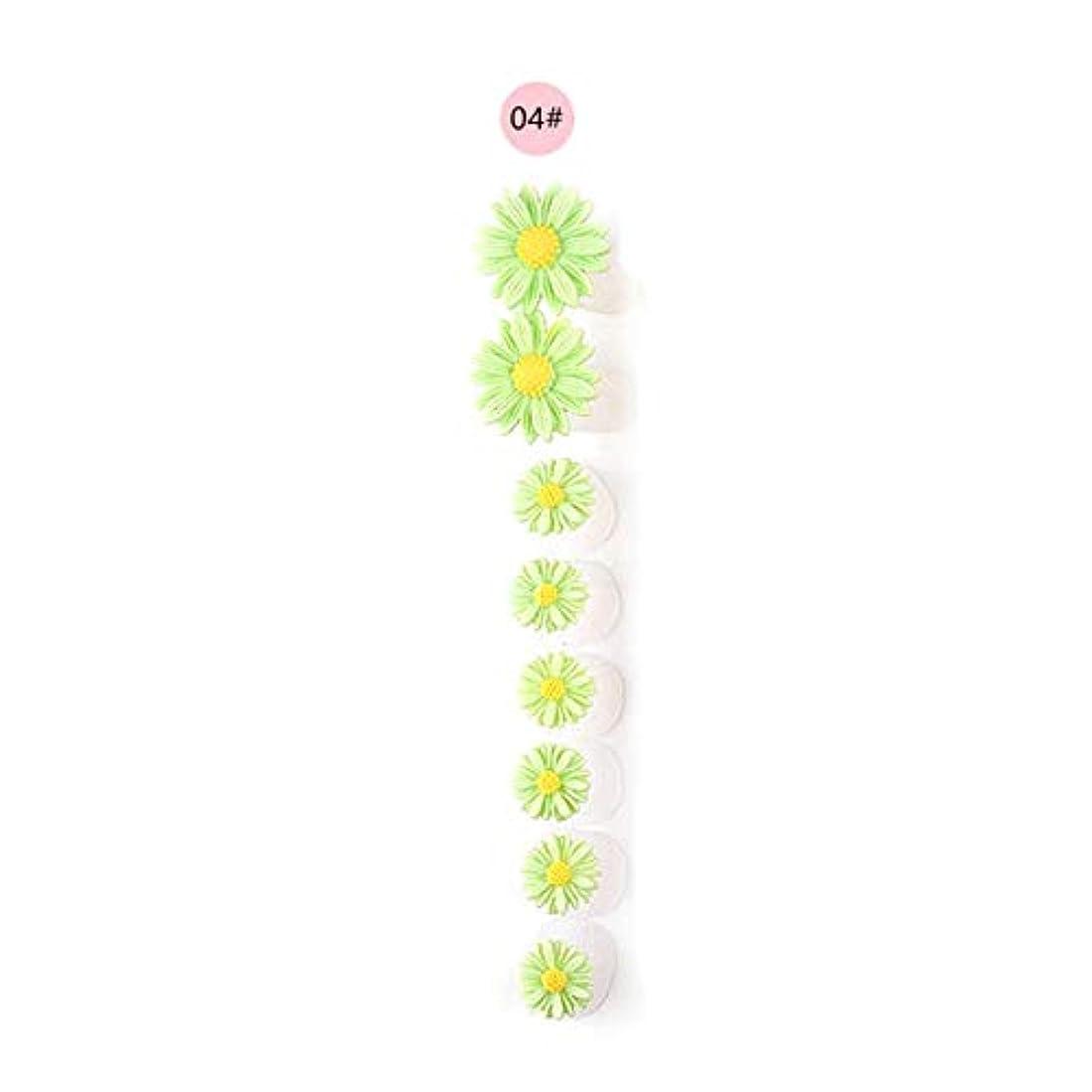 エジプト友だち伝染性の8ピース/セットシリコンつま先セパレーター足つま先スペーサー花形ペディキュアDIYネイルアートツール-カラフル04#