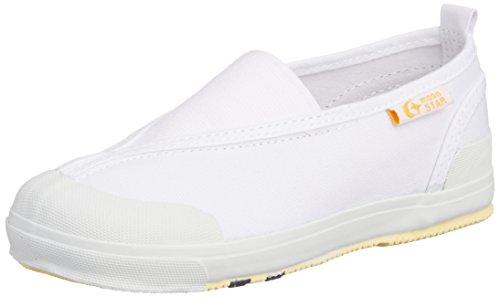 [キャロット] 上履き 三角ゴム 子供 靴 4大機能 足育 足に優しい ゆったり 抗菌防臭  CR ST12 ホワイト 20.5 cm 2E