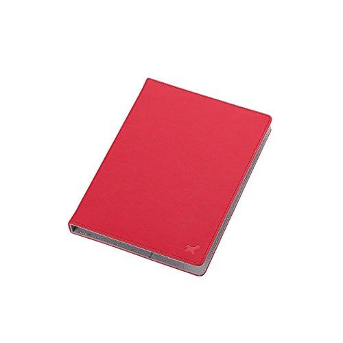 7.0〜8.4インチ汎用タブレットケース(レザータイプ)/レッド TB-08LCHRD 1個