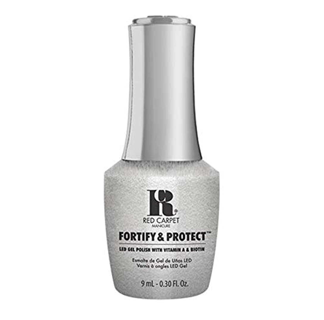 検閲おそらく追放するRed Carpet Manicure - Fortify & Protect - Silver Screen Starlet - 9ml / 0.30oz