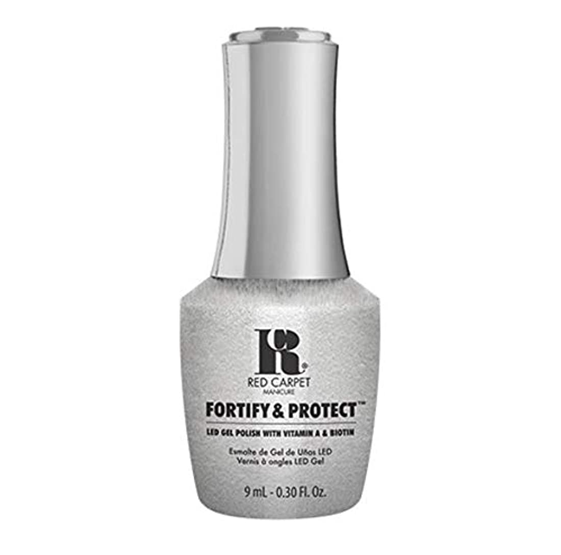 ガチョウネクタイ広範囲にRed Carpet Manicure - Fortify & Protect - Silver Screen Starlet - 9ml / 0.30oz