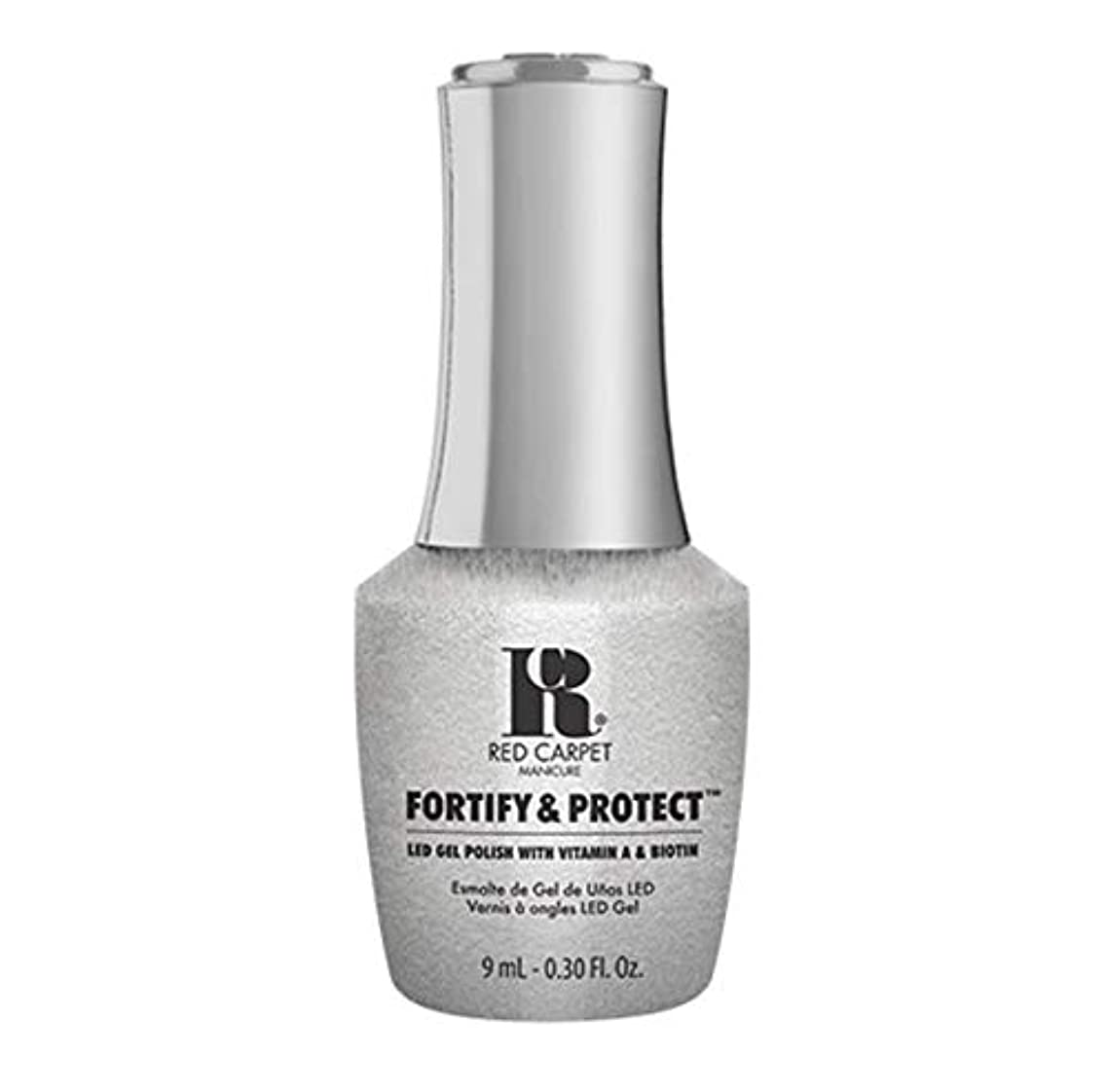 リハーサル塊ペフRed Carpet Manicure - Fortify & Protect - Silver Screen Starlet - 9ml / 0.30oz