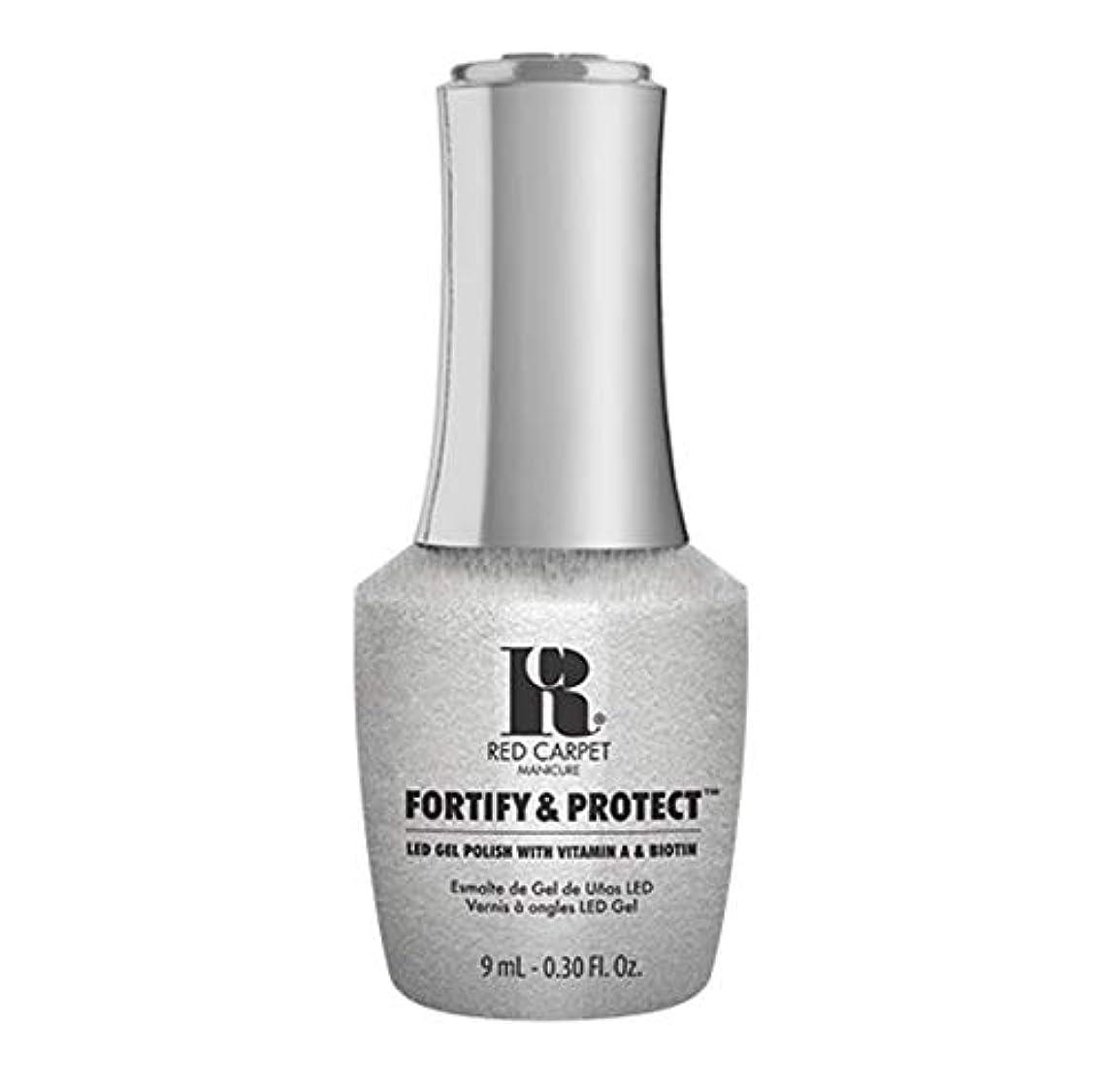判定愛情深い動揺させるRed Carpet Manicure - Fortify & Protect - Silver Screen Starlet - 9ml / 0.30oz