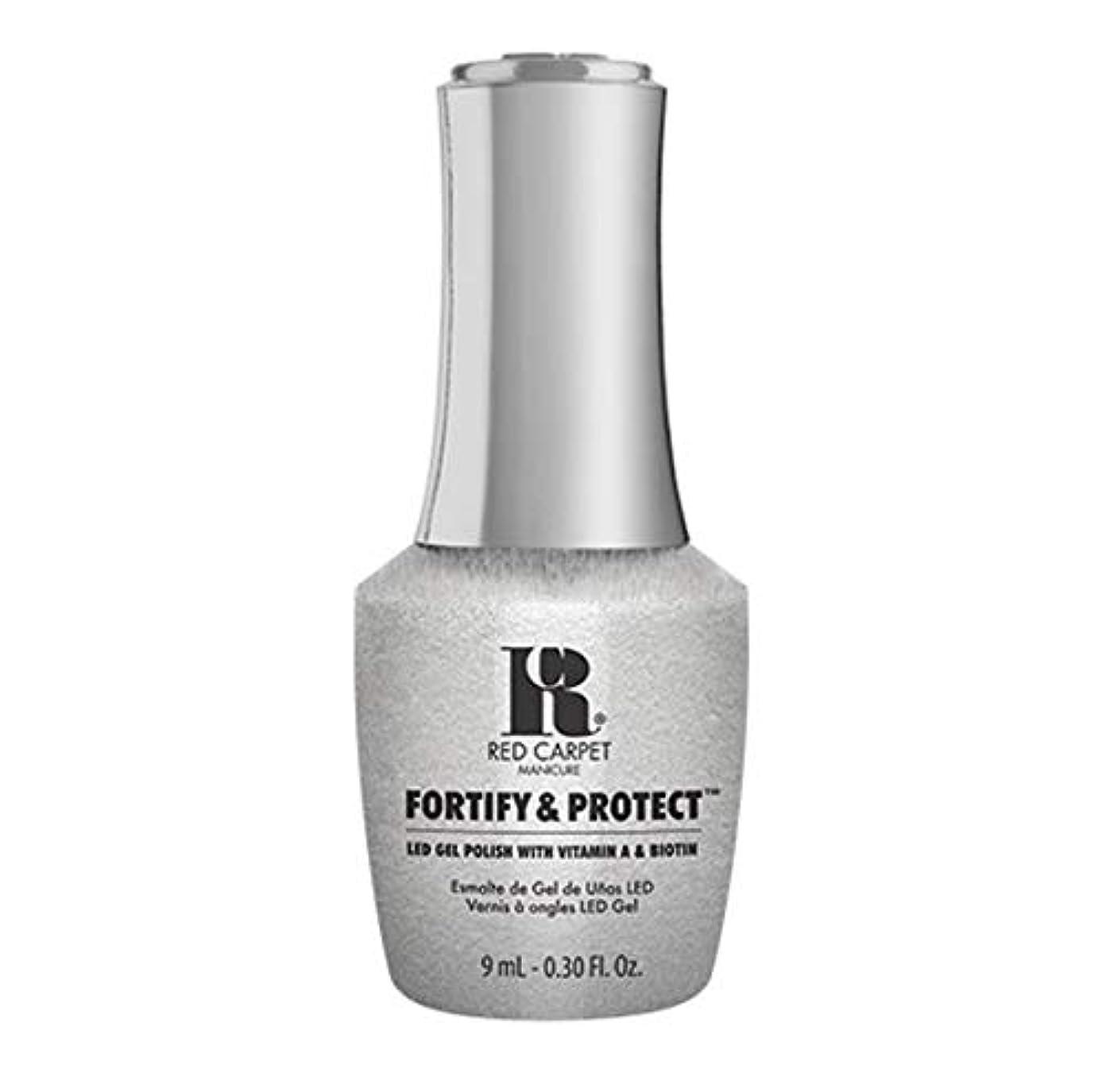 ポーン足首カウンタRed Carpet Manicure - Fortify & Protect - Silver Screen Starlet - 9ml / 0.30oz