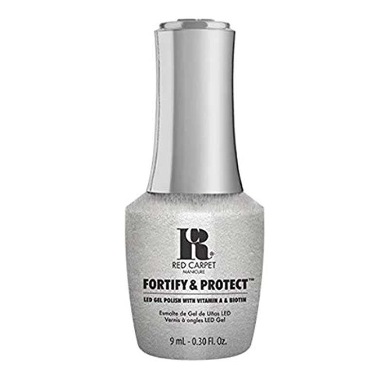 金銭的な不可能な衰えるRed Carpet Manicure - Fortify & Protect - Silver Screen Starlet - 9ml / 0.30oz
