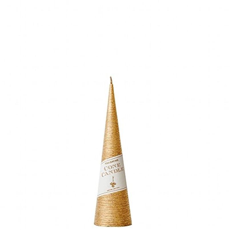 カメヤマキャンドル(kameyama candle) ネオブラッシュコーン 180 キャンドル 「 ゴールド 」 6個セット