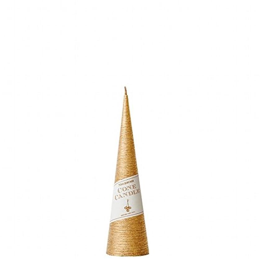 抗議本質的ではないバルコニーkameyama candle(カメヤマキャンドル) ネオブラッシュコーン 180 キャンドル 「 ゴールド 」 6個セット(A9750110GO)