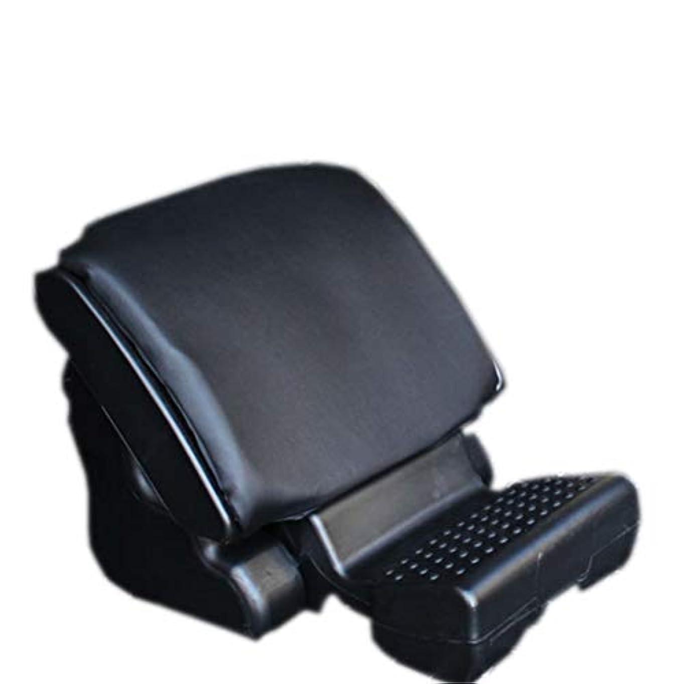 力強い飛行場移動車の座席フットレストパッド、車のための人間工学的の足のマッサージのクッション、家、オフィス、よりよい循環のための高い足,Black