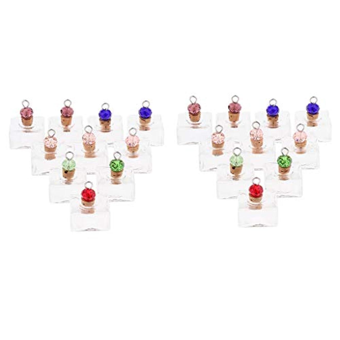 悪のリズム逆P Prettyia 香水 ペンダント ネックレス アロマ ガラス容器 香水瓶 ボトル エッセンシャルオイル