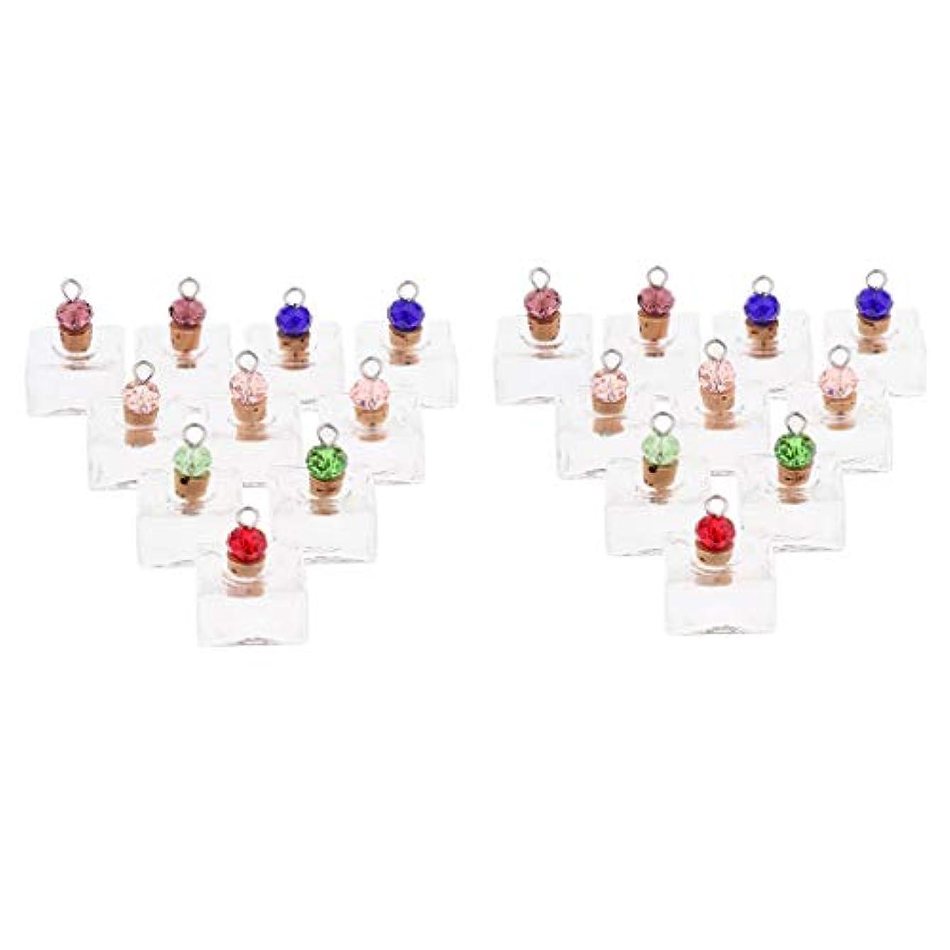 プレゼンター平らにする乱用香水 ペンダント ネックレス アロマ ガラス容器 香水瓶 ボトル エッセンシャルオイル