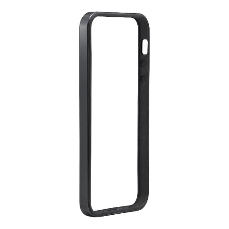 識字監査アーティストiBUFFALO iPhone5s?iPhone5専用 ハイブリッドバンパー 液晶保護フィルム付 ブラック BSIP13PCHBBK