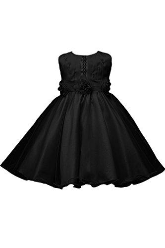 7d0122e478e14 (アイビードレシング) Ivydressing 子供ドレス パーティードレス ウェディング ブラック ワンピース 女の子 フラワーガールドレス