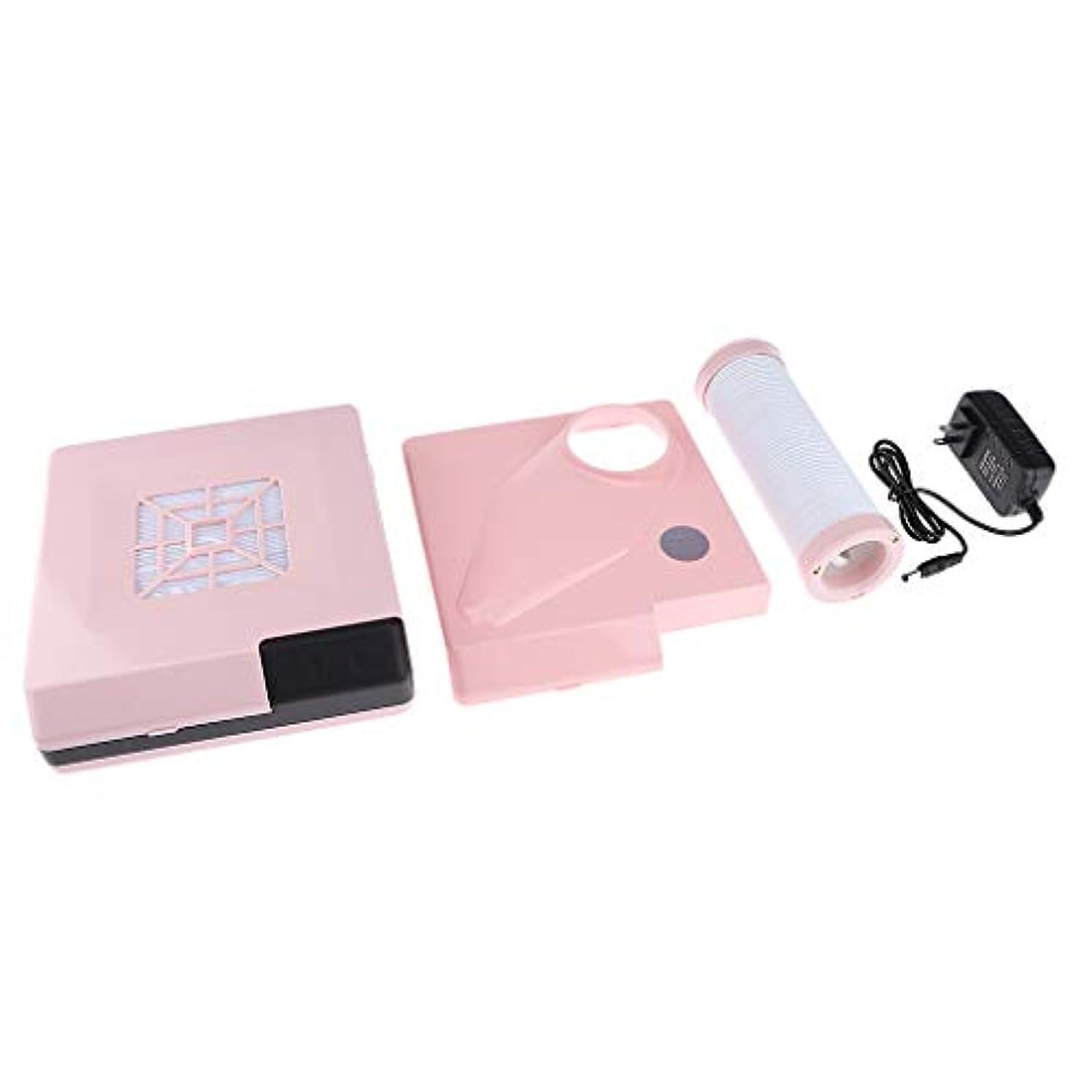 雄弁な歪める測定可能B Blesiya ネイルダストコレクター 60W ネイルサロン プロ 2色選べ - ピンク