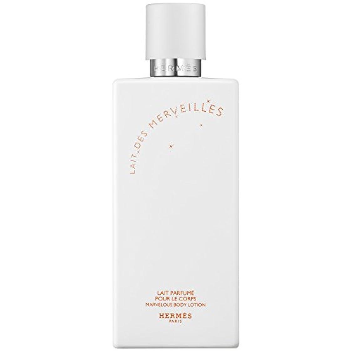 踏みつけ山積みのメッシュエルメスオーデMerveilles香りのボディローション200ミリリットル (HERM?S) (x6) - HERM?S Eau Des Merveilles Perfumed Body Lotion 200ml (Pack...