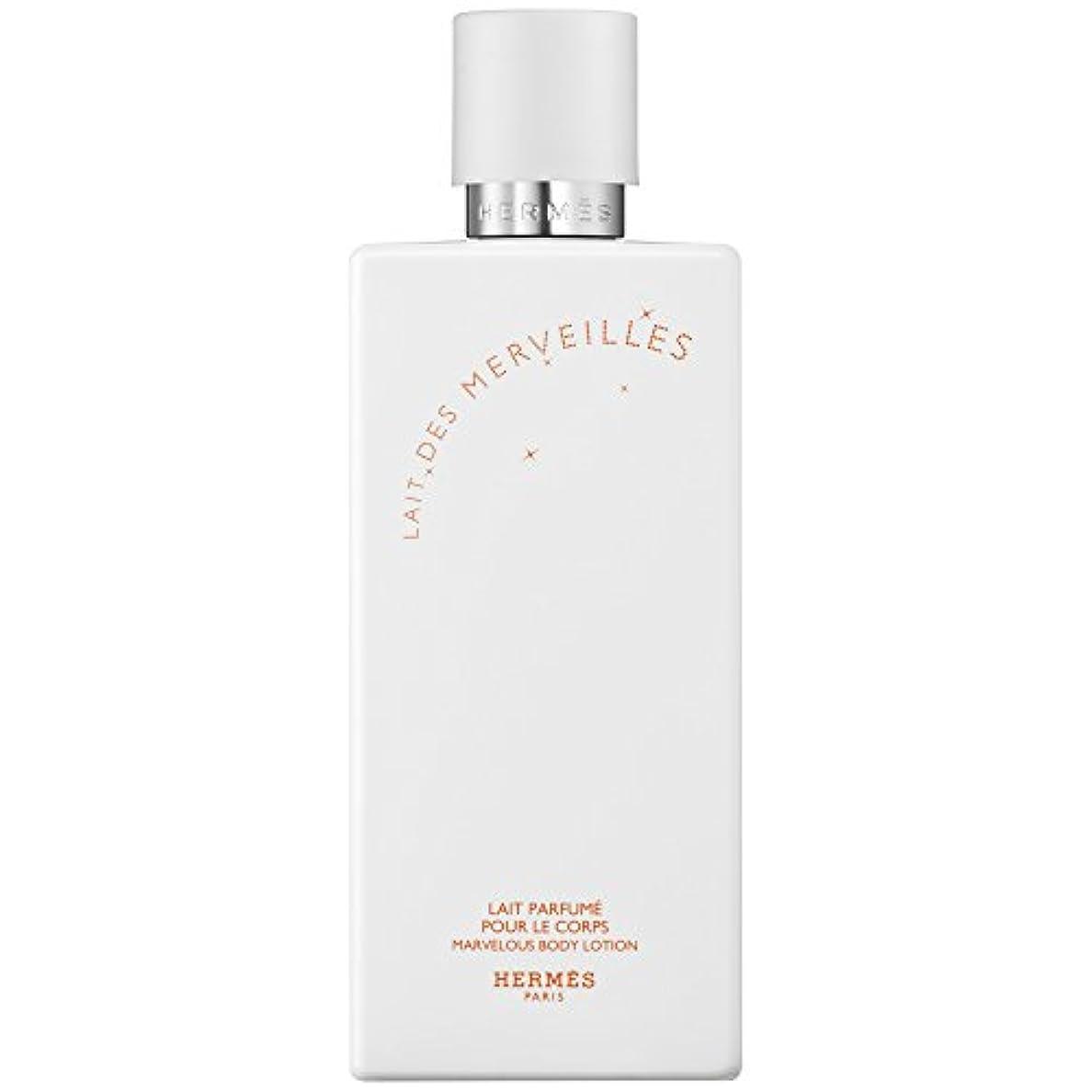 美しい花弁悲観主義者エルメスオーデMerveilles香りのボディローション200ミリリットル (HERM?S) (x6) - HERM?S Eau Des Merveilles Perfumed Body Lotion 200ml (Pack...
