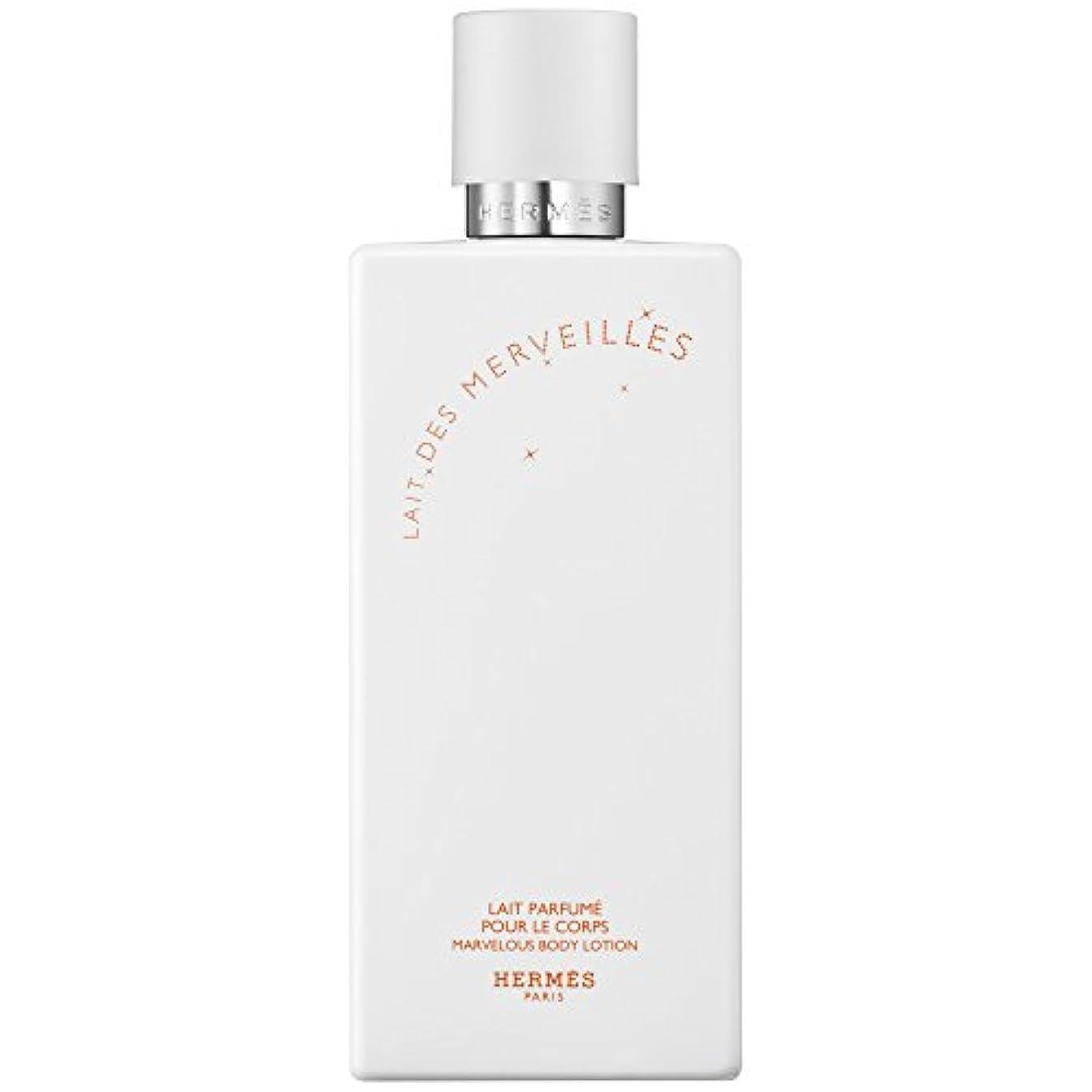 薄い簡潔なペリスコープエルメスオーデMerveilles香りのボディローション200ミリリットル (HERM?S) (x6) - HERM?S Eau Des Merveilles Perfumed Body Lotion 200ml (Pack of 6) [並行輸入品]