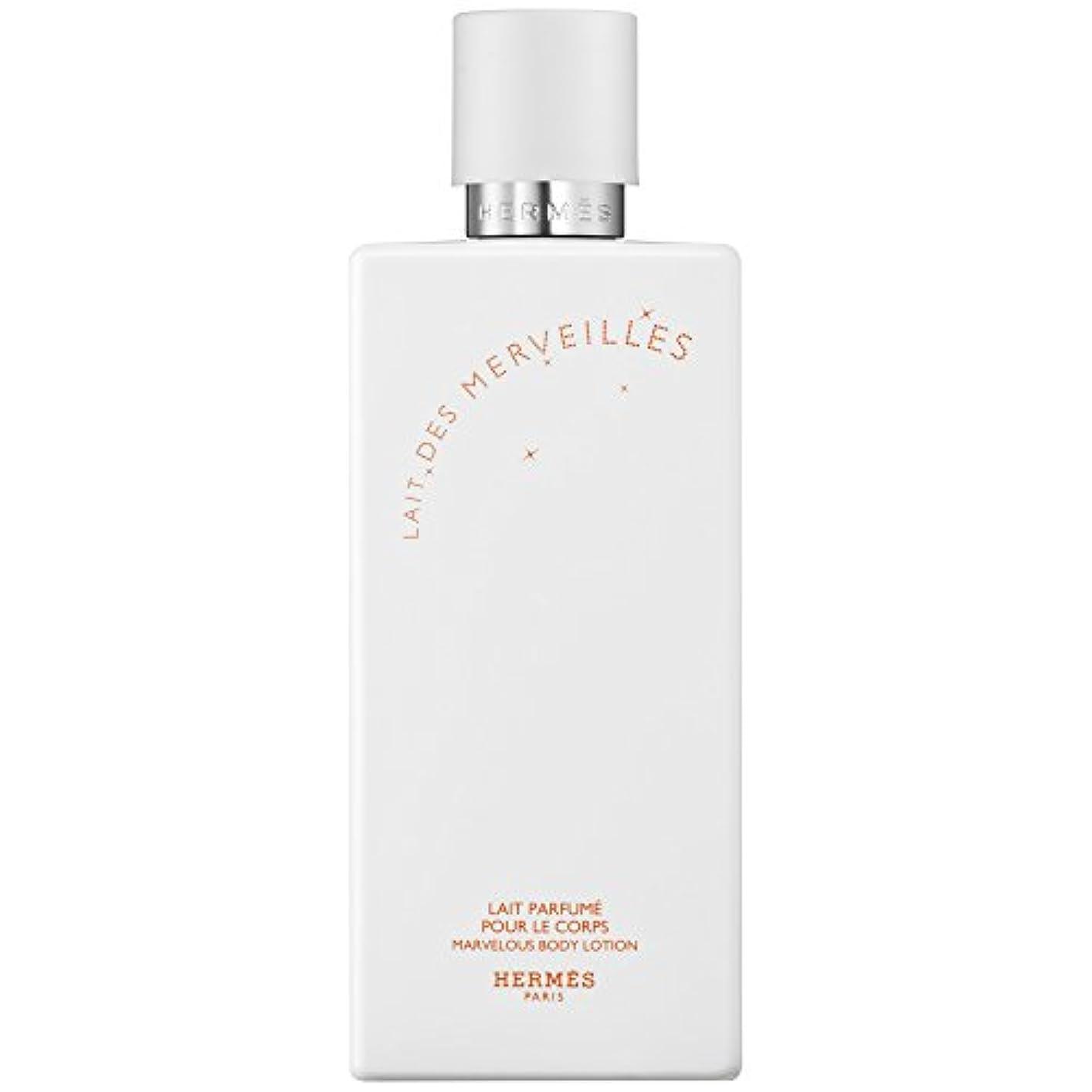 承認暴力的なミリメートルエルメスオーデMerveilles香りのボディローション200ミリリットル (HERM?S) (x6) - HERM?S Eau Des Merveilles Perfumed Body Lotion 200ml (Pack...
