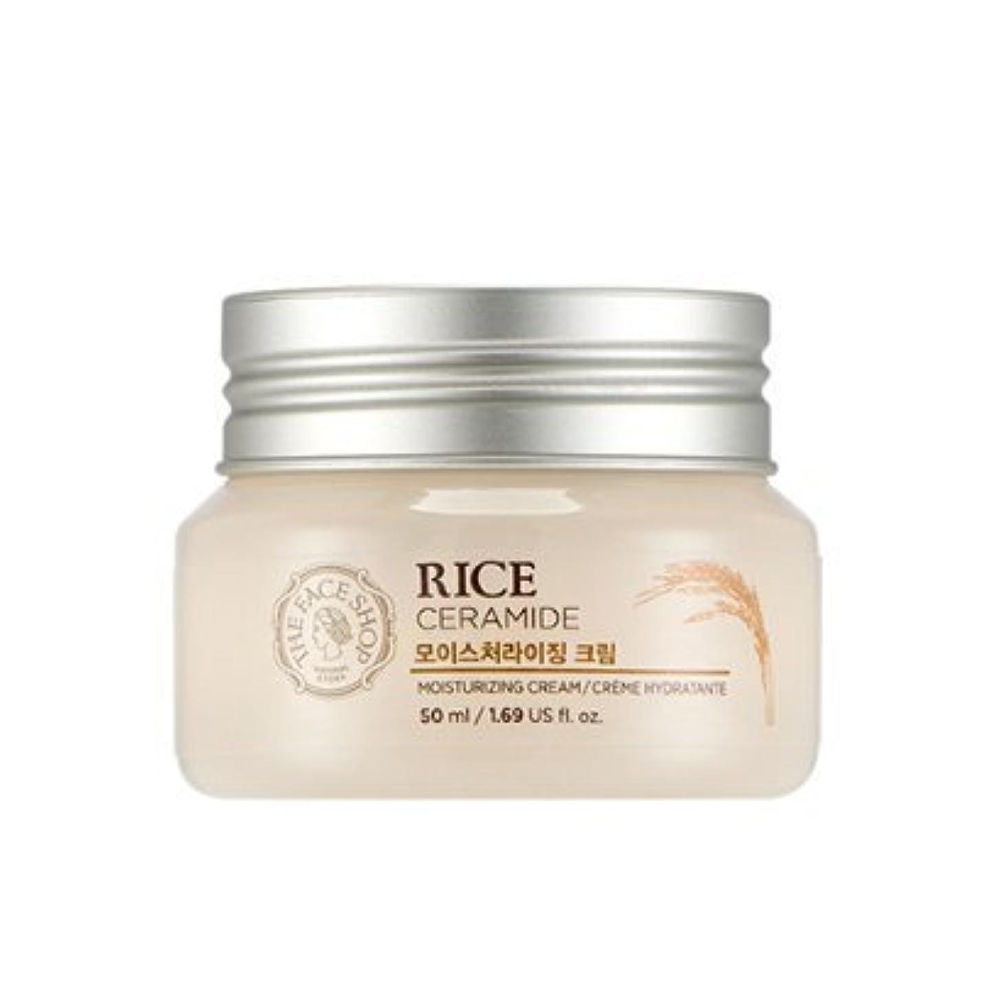 テクスチャー運営君主THE FACE SHOP Rice & Ceramide Moisturizing Cream ザフェイスショップ ライス&セラミドモイスチャーライジングクリーム [並行輸入品]